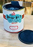 House No.8 Chalk Finish Paint - Chalk Furniture & Cabinet and Accent Paint - Quart (Navy)