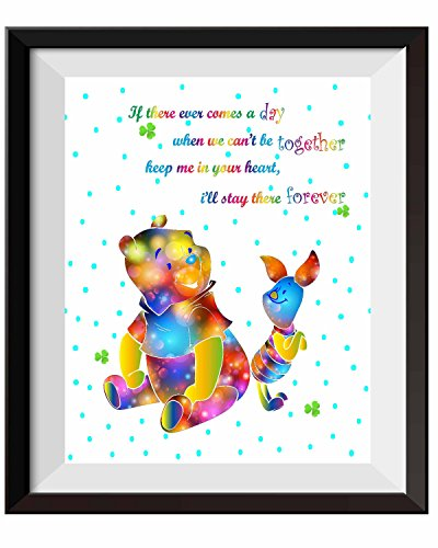 (Uhomate Nursery Decor Winnie The Pooh Quotes Winnie the Pooh Baby Home Canvas Prints Wall Art Anniversary Gifts Baby Gift Inspirational Quotes Wall Decor Living Room Bedroom Artwork C081 (8X10))