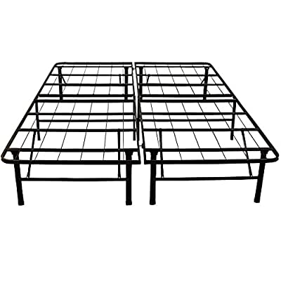 Classic Brands Platform Metal Bed Frame, Use as Box Spring or Foundation