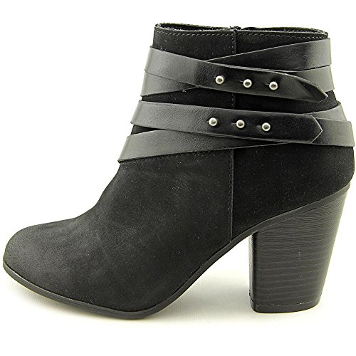 Black Boots Womens Toe Ankle Girl Mini Fashion Round Material xnZBO8gFx