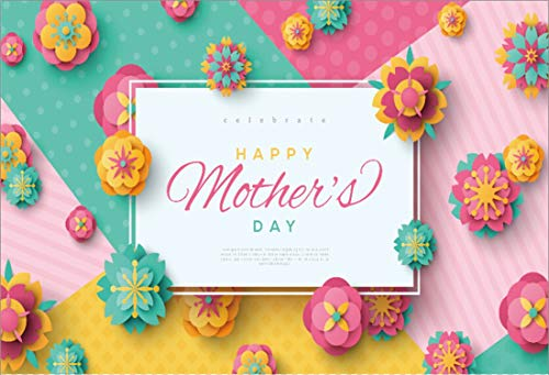 Yeele 5x4ft Vinyl Photography Background Happy Mother's Day Celebration Paper Flowers Contrast Color Photo Backdrops Pictures Studio Props Wallpaper]()