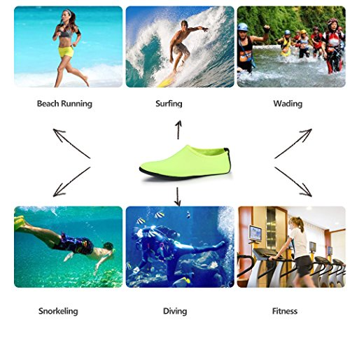 for Green Women Aqua Water Men Yoga Shoes Quick Socks SABOLAY Swimming Dry Lightweight xq7AwCSC