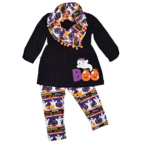 Unique Baby Girls 3 Piece Halloween Legging Set (3t) - Girls Halloween Outfit