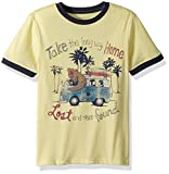 Lucky Brand Big Boys' Short Sleeve Graphic Tee Shirt, Custard Heather Take Me Hombre, Medium (10/12)