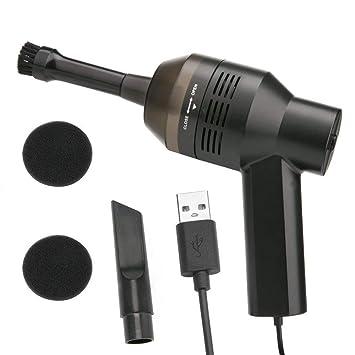 Aspirador de ordenador USB, teclado mini limpiador con USB recargable, portátil USB teclado limpiador
