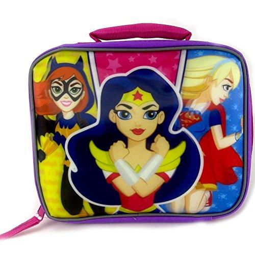 DC Comics Super Hero Girls Batgirl, Wonder Women and Supergirl Rectangular Insulated Lunch Box