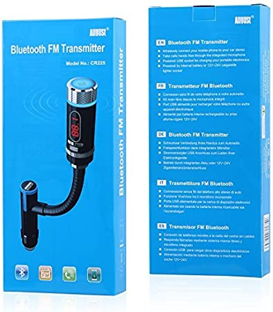August Cr225 Fm Transmitter With Bluetooth And Elektronik