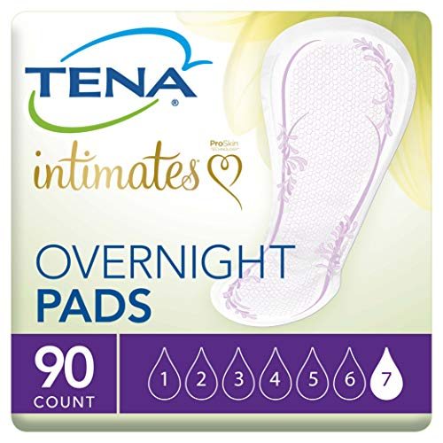Tena Intimates Incontinence Pads/Bladder Control Pads for Women, Overnight Absorbency With Lie Down Protection, 90 Count