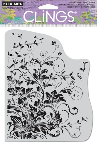 Hero Arts CG509 Leafy Vines Cling Stamp by Hero Arts