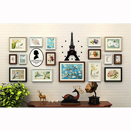 Photo Frames Decoration Wall Photo Wall Combination Restaurant Living Room Wall Sofa Background Wall (Color : B)