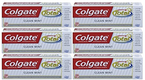 Colgate Total Clean Mint Toothpaste-0.75 oz, Travel Trial size - (Pack of 6)