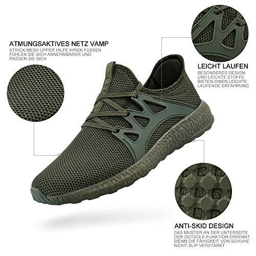 Zocavia Atletiche Corsa Moda Sneakers Elegante Scarpe Da Ginnastica In Uomo Verde Sportivo r6wxp6q