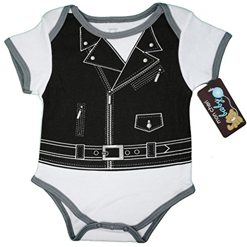 (3-6) The Motorcycle Dude Funny Baby Boy Girl Unisex One Piece Infant Funny Dress Up Bodysuit ()