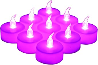 Flickering Flameless Tealight Candle Party and Christmas Decoration for Wedding Long Lasting Battery Operated Fake Candles 24 Pack LED Tea Lights Candles Blue - 24pcs