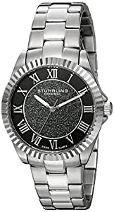 Stuhrling Original Women's 743.01 Audrey Shimmer Swiss Quartz Black Dial Watch
