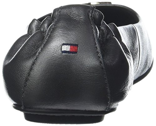 Nero Black Ballerine Tommy Leather Donna 990 Hilfiger Pearlized axWvwOzB