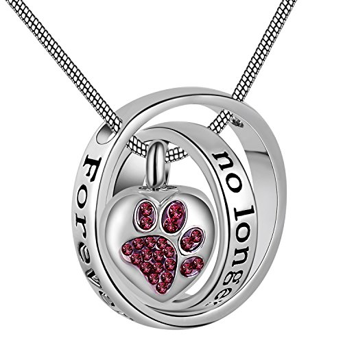 Eternally Loved No Longer by My Side,Forever in My Heart Carved Locket Cremation Urn Necklace for mom & dad (pet)
