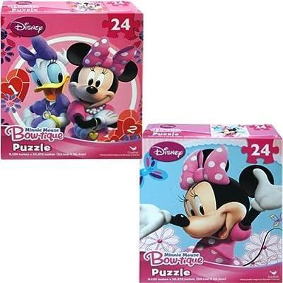 Disney Minnie Mouse Bowtique 24Piece Puzzle - Assorted Styles, Multicolor: Toys & Games