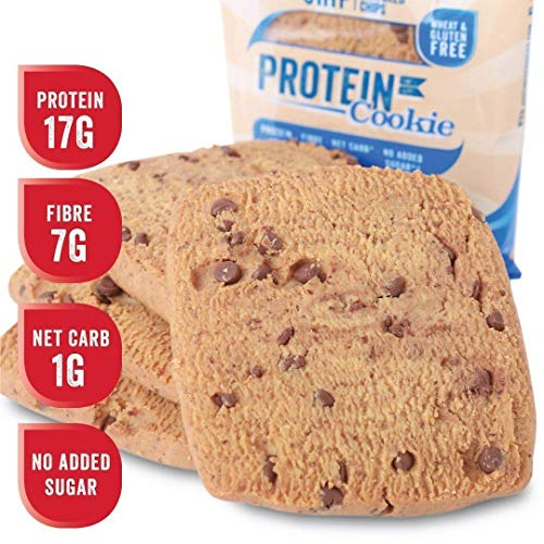 Justine's Cookies Chocolate Chip Soft Baked High Protein Healthy Snack, Ultra Low Carb, No Added Sugar, Gluten Free, Wheat Free, Made in New Zealand (2.25 oz, 12 Pack) (Best Protein Powder For Weight Loss Nz)