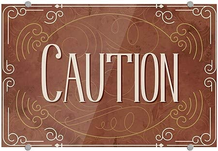 Caution CGSignLab 5-Pack 18x12 Victorian Card Premium Acrylic Sign
