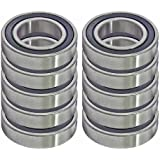 10 Sealed Bearing R6-2RS 3/8 x 7/8 x 9/32 inch Miniature Ball Bearings VXB Brand