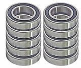 10 Sealed Bearing 99502H-2RS 5/8 x 1 3/8 x 7/16 inch Ball Bearings