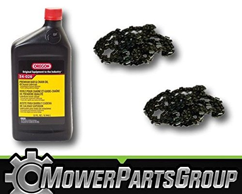 MowerPartsGroup P063 (2) Oregon 91PX062G 3/8 .050 62 DL 18'' Chainsaw Chain & 1QT Bar/Chain Oil