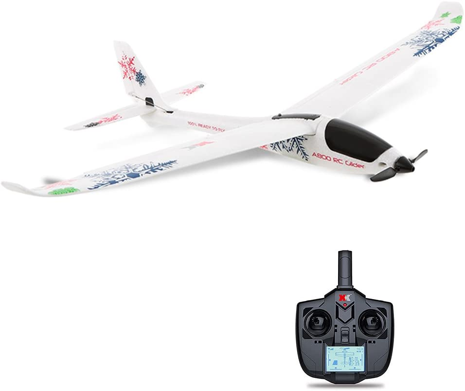 LanLan Helicóptero Juguete Interesante, A800 4CH 780mm 3D6G Sistema RC Planeador avión Compatible Futaba RTF