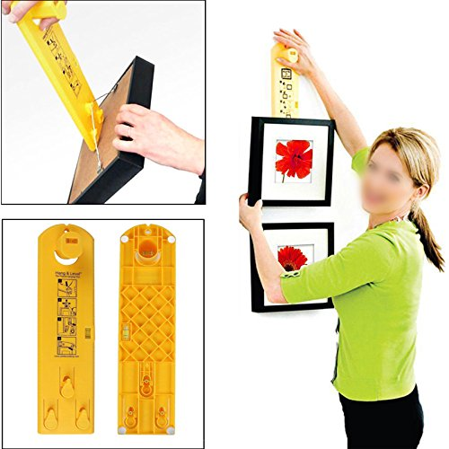Suspension Measurement Marking Position Tool,Hang and Level Picture Hanging Tool and Horizontal Wall of The Roof, Perfect to Hang Pictures, Mirrors and Clocks, Yellow by GG Life (Image #3)