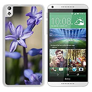 Unique DIY Designed Cover Case For HTC Desire 816 With Blue Hyacinth Flower Mobile Wallpaper (2) Phone Case
