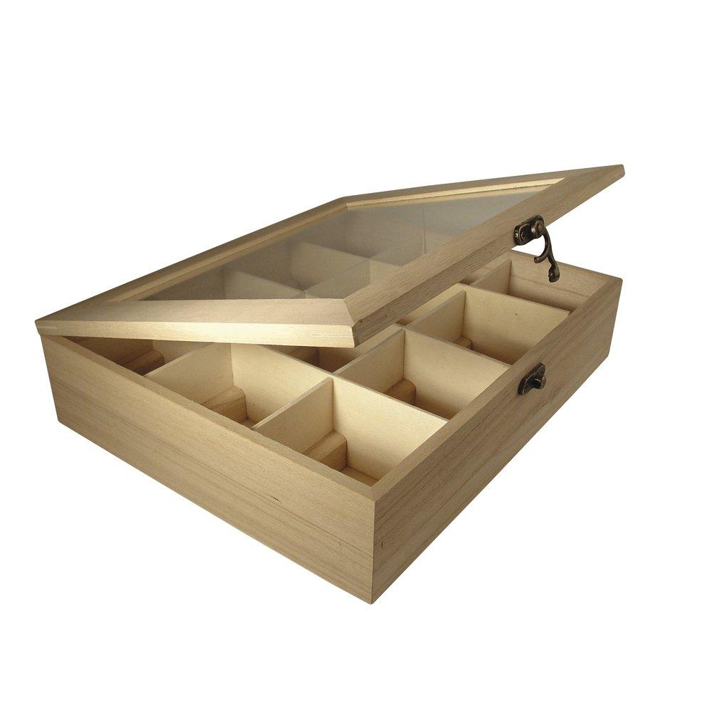 boite th en bois maison du monde. Black Bedroom Furniture Sets. Home Design Ideas