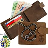 BARON of MALTZAHN Men's wallet purse with chain VANDERBILT of brown leather