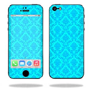 Mightyskins Protective Vinyl Skin Decal Cover for Apple iPhone 5/5s/SE wrap sticker skins Blue Vintage