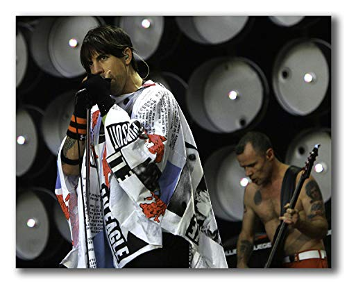 wallsthatspeak Anthony Kiedis of The Red Hot Chili Peppers Performing at Live Earth at The Wembley Stadium in London Unframed Poster 10 X 8 inches