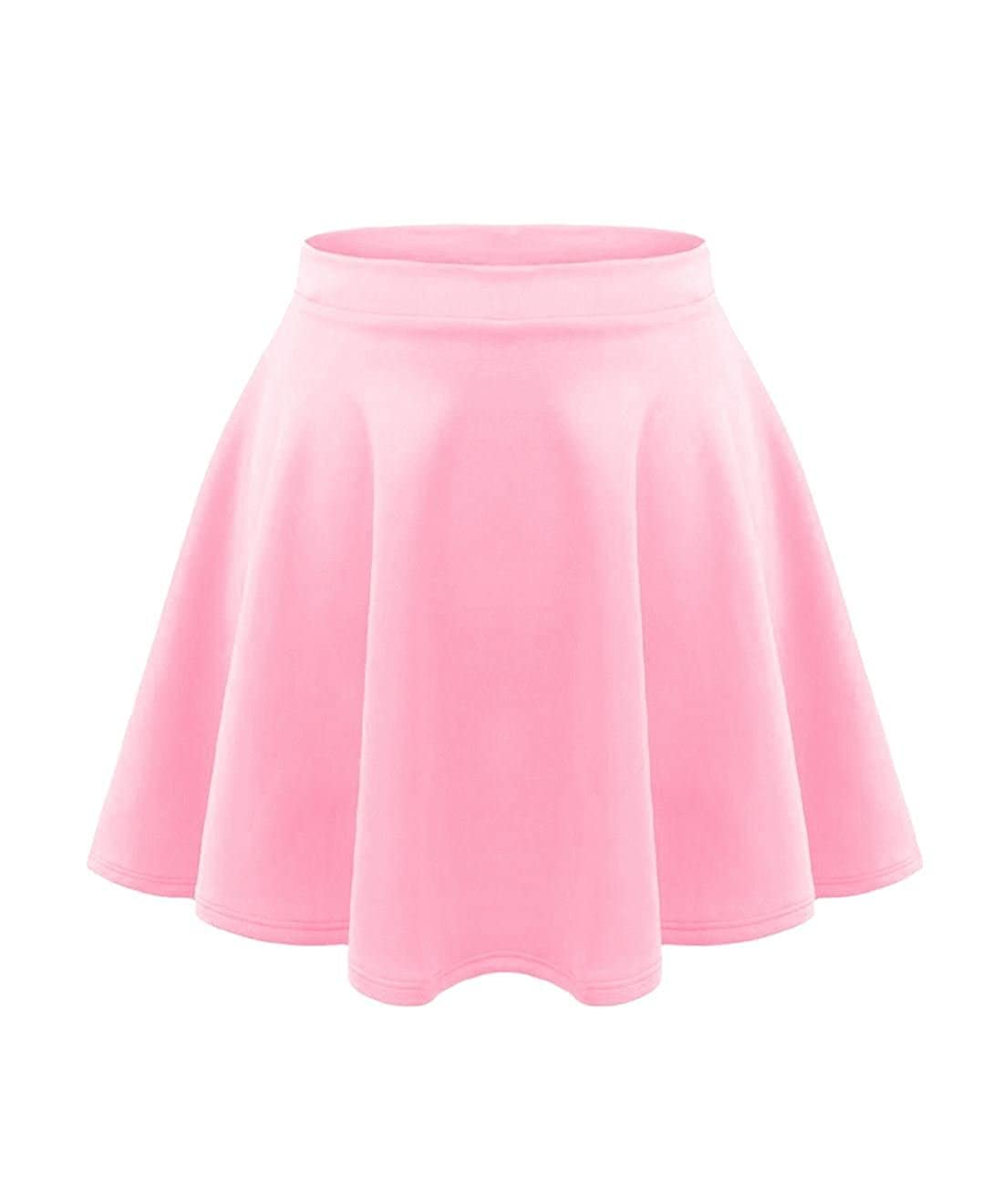 71a6f24a0f Excellent Quality Elasticated High Waisted Stretchy Short Mini Flared Skirt  Length: 15 Inches Approx.