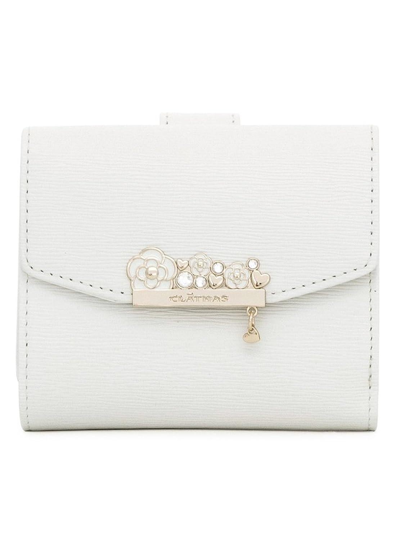 (クレイサス) CLATHAS 二つ折り財布 187502 ベルリーナ 【00】ホワイト B07B2P5QKY  【00】ホワイト