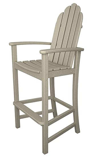 polywood adirondack bar height chair sand - Polywood Adirondack Chairs