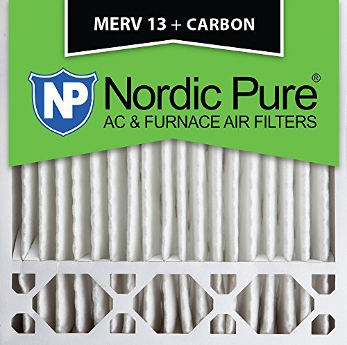 Nordic Pure 20x20x5HM13+C-1 Honeywell Replacement MERV 13 Plus Carbon AC Furnace Air Filters, Qty-1 by Nordic Pure