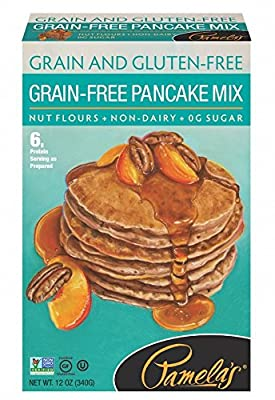 Pamela's Products Gluten Free Pancake Mix, Grain-Free, 12 Ounce