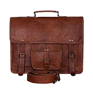 KPL Vintage 15 Inch Laptop Messenger Bag briefcase Satchel laptop bag for Men and Women
