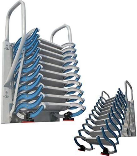 Escalera de ático de metal con barandillas Escalera de ático de aluminio de 2M-4M desplegable escalera plegable engrosada altura personalizable (B/M-1.7M,Acero): Amazon.es: Bricolaje y herramientas