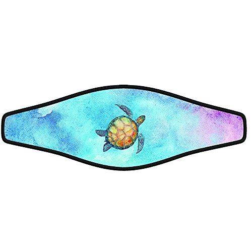 Innovative Scuba Concepts Scuba Diving Mask Strap Wrapper Water Color Turtle