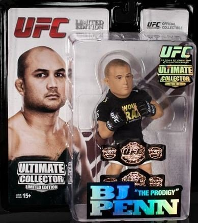 BJ Penn (Championship - 2 belts) Round 5 UFC Ultimate Collector Series 12 Limited Edition #1500 by Round 5 MMA