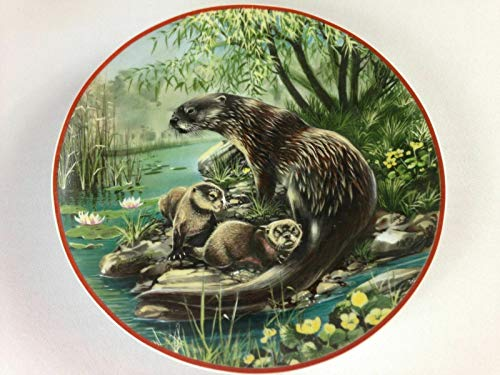 - WWF Otters Plate Vintage 1984 Heinrich Fischotter Save Nature Villeroy Germany