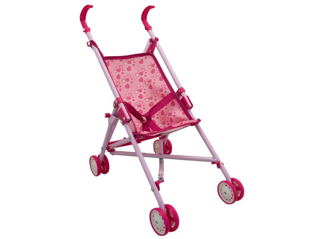 TEOREMA Satz 63745 Kinderwagen aus Metall fü r Puppen mit Verschluss mit Regenschirm Teorema srl