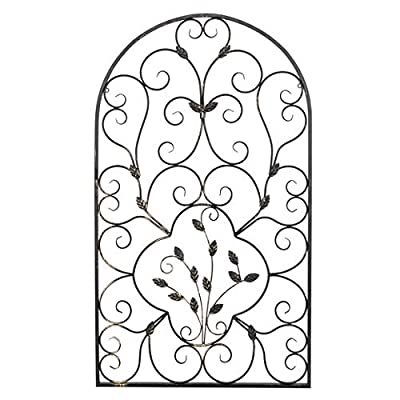 Layee Spanish Architectural Pattern Metal Wall Art Garden Plaque Butterfly Indoor Outdoor Gate Decoration: Home & Kitchen