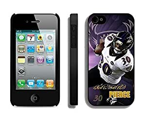 NFL&Baltimore Ravens Bernard Pierce iphone 4 4S phone cases&Gift Holiday&Christmas Gifts PHNK625508