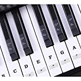 Piano Stickers for Keys, Full Set Removable Keyboard Stickers for 37/49/54/61/88 Keys Piano Beginners&Kids Learning Piano, with Instruction Note Labels Stickers, Black&White