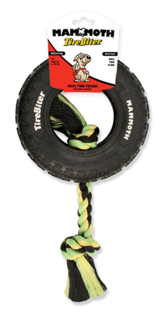Mammoth TireBiter Chew Toy with Rope, Small