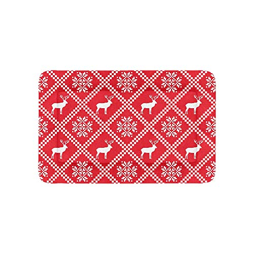 Chawzie Happy Carnival Red Nordic Winter Extra Large Bedding Soft Pet Dog Beds Couch for Puppy and Cats Furniture Mat Cave Pad Cover Cushion Indoor Gift Supplier 36 X 23 Inch ()